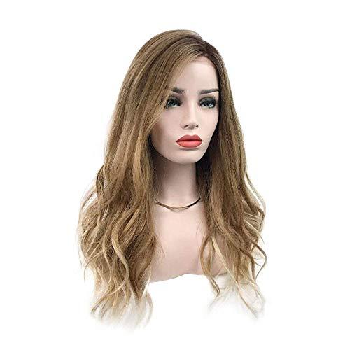 HKX Pelucas Gradiente Adecuado para Mujeres Exquisita Red de Rosas, Cabello Medio Largo y Rizado, Uso Diario para Fiestas y Festivales (65Cm)