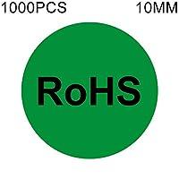 For Home & Garden Zlj 1000年PCSラウンドシェイプ自己接着剤RoHS指令RoHS指令ステッカーラベル、直径:10ミリメートル