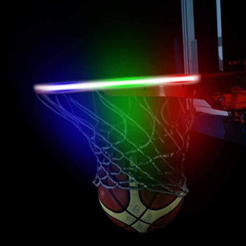 Funiee Luces LED de baloncesto con borde de baloncesto de energía solar con 3 modos de flash, perfectas para jugar por la noche al aire libre
