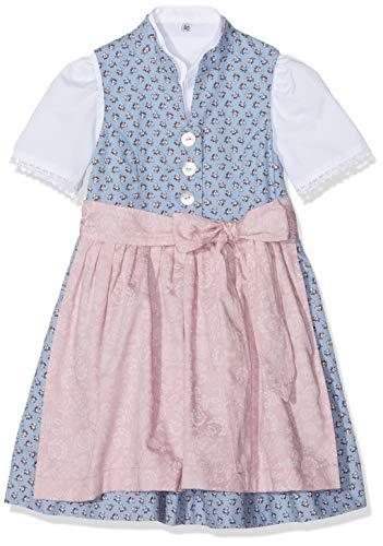 Berwin & Wolff Baby-Mädchen 596019 Kleid, Mehrfarbig (Hellblau/Rosa 1822), (Herstellergröße:86)