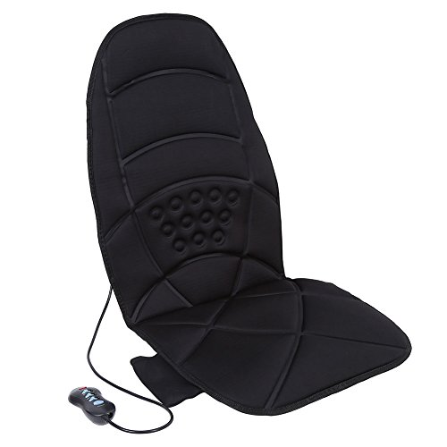 Massage Cushion for Seat, Electric Heated Full-Body 5-Motors Massage Cushion Sit or Lie Enjoying with 8 Modes Time Setting Functions Back Neck Lumbar Massager Cushion Pad for Chair Car Sofa (Type 1)