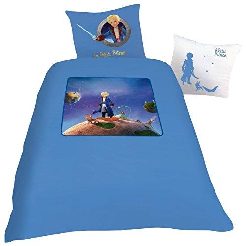 Juego de cama con funda de edredón para niños, reversible, 100% algodón, 140 x 200 cm + funda de almohada de 63 x 63 cm, edredón de Bettbezug (El Principito • Movie)