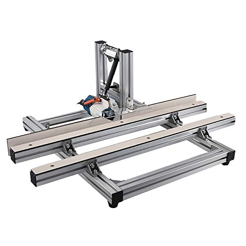 QWERTOUY Elektrische Kantenschneider Kantenschneider 2-in-1 tragbare Schneidemaschine Holzbearbeitung Kantenfräsmaschine 10-50mm 400W 220V (73 * 94cm)