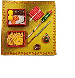 KIKA (TK) Diwali Special Fridge Magnet (Sweets, Snacks and Crackers)