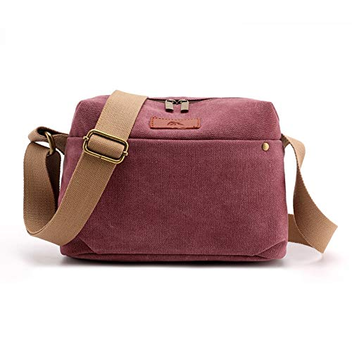 BZAHW 2020 Segeltuchbeutel Handtasche koreanische beiläufiger Schulterbeutel Dame Mode Wilder Neuer Trend Handtaschen Messenger Laptop (Color : Purple Coffee, Size : 27X19X10CM)