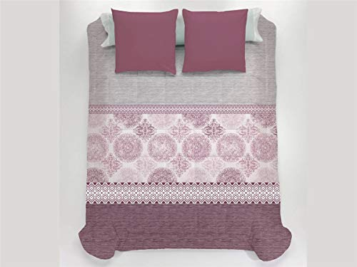 JAVIER LARRAINZAR Edredón Conforter Santorini 105-Color Rojo, Cama 105 cm
