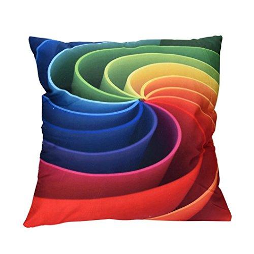 Squarex Impact visuel Imprimé coloré Taie d'oreiller Canapé Voiture Housse de coussin Décoration de maison