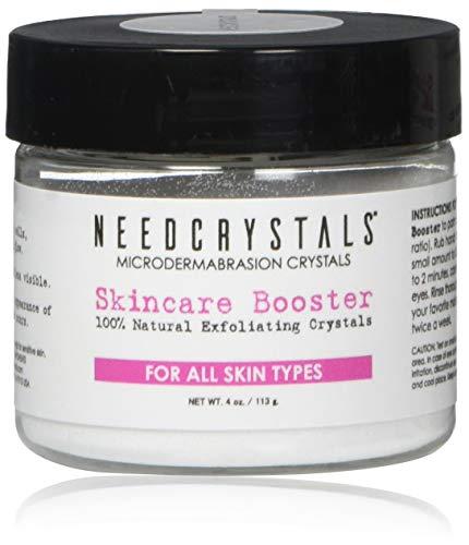 NeedCrystals Mikrodermabrasion Kristalle, Gesicht Peeling. Natürliches gesichtspeeling für stumpfe oder trockene Haut verbessert Akne-Narben, Mitesser, Porengröße, Flecken und Hautstruktur. 113 Gramm
