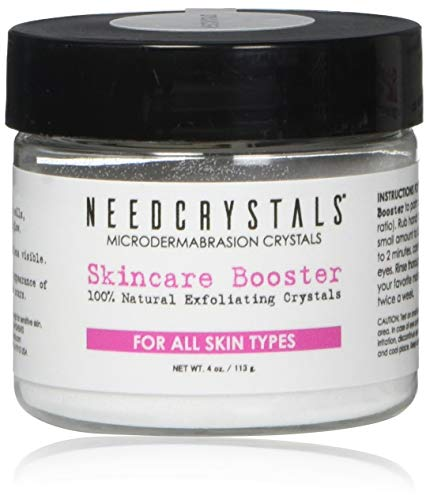 NeedCrystals Cirstales de Microdermabrasion. Exfoliante Facial Natural para Piel Aburrida o Seca Mejora cicatrices de acné, puntos negros, arrugas, imperfecciones y textura de la piel. 113 Gramos