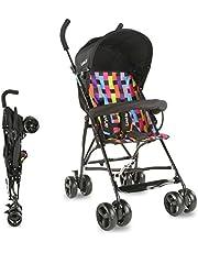 LuvLap Tutti Frutti Baby Stroller Buggy -Printed Black