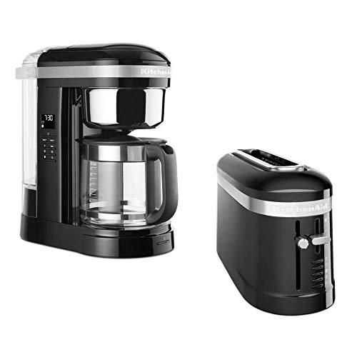 KitchenAid Frühstücksset mit Drip Kaffeemaschine und 2 Scheiben Toaster (Onyx Schwarz)