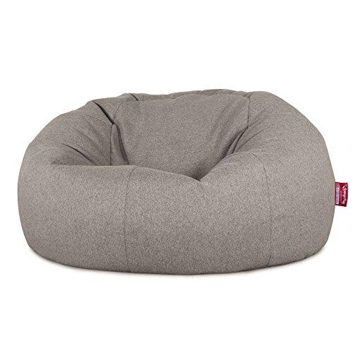 Lounge Pug®, Pouf Canapé Classique, Pouf Geant, Interalli Laine Argent