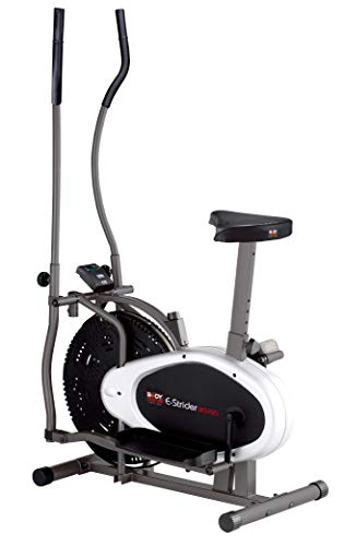Body Sculpture BE5925 2-in-1 Dual-Action Air Elliptical & Bike | 12 Months Warranty | Adjustable Seat | Adjustable Tension | Track Your Progress | More