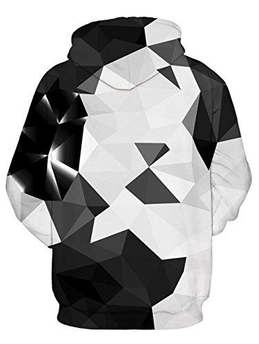 NEWISTAR Mens 3D Digital Print Athletic Sweaters Hoodie Hooded Sweatshirts Velvet Plus Size, Galaxy, L