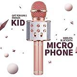 DIMU Giocattoli per Ragazze per 5-12 Anni, Giocattolo per Microfono Senza Fili Bluetooth per Bambina di 5-11 Anni Regalo di Compleanno per Ragazza età 7 8 9 Divertente Giocattolo Musicale per Bambini