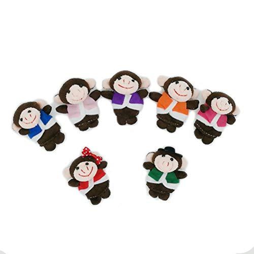 BSTQC 7pcs / Set Dedo del bebé del Mono de Marionetas Juguetes Entre Padres e Hijos Juego Interactivo Juguetes Animal Lindo Educativo Historia Juguetes Títeres Regalo