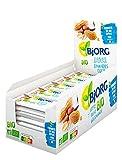 Bjorg Barre Énergétique Amandes Coco Bio – Source de Fibres et Riche en Protéines – Encas Sain pour le Sport : Vélo, Fitness, Trail, Running – 30 barres individuelles de 25 g