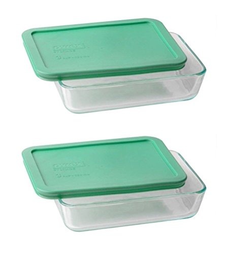 Pyrex 3-cup Rectangle Glass Food Storage Set Container (Pack of 2 Containers)