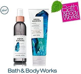 Bath & Body Works AQUAMARINE Set - Body Cream and Fine Fragrance Mist Full Size