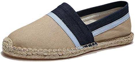 Men's Women's Espadrilles Flats Shoes Canvas Slip on Loafers