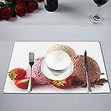 Plsdx Cucchiaino Gelato alla Fragola Rosa Cucina Estiva...