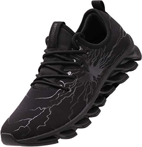 BRONAX All Black Tennis Hombres Shoes for Men Slip...