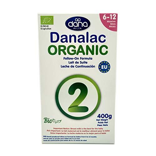 DANALAC Organic Latte in Polvere di Proseguimento 400 gr Fase 2 Latte Artificiale per Neonati e Lattanti 6-12 Mesi (Confezione da 1)