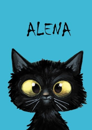 ALENA - Coloring Book / Notebook / Diary - DIN A5 - cat – blank