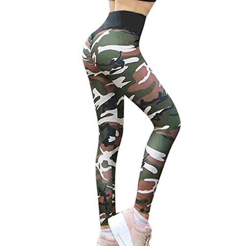 Damen Legging ABsoar Elegante Yogahose Gym Fitness Hose Fitness Sweatpants Yoga Gymnastik Tarnungs Druck Sporthosen
