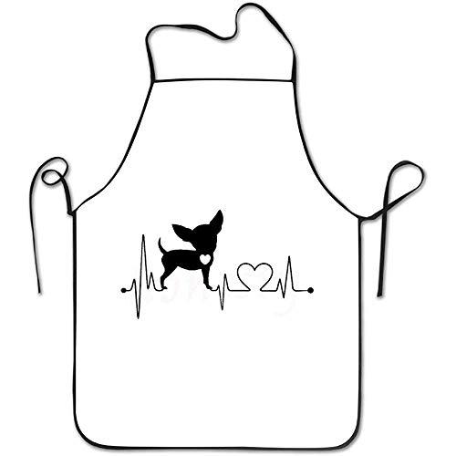 N\A Wolf Girl 1 Zoo Delantal, Delantal de Cocina Unisex con Babero para cocinar Hornear Jardinería Una Estera Humor Divertido Gráfico Chef de Cocina