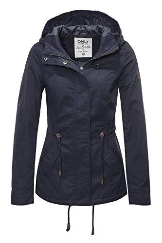 ONLY Damen Onlnew Lorca Spring Jacket CC OTW Parka, Blau (Blue Graphite Blue Graphite), 36 (Herstellergröße: S)