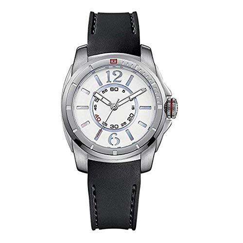 Tommy Hilfiger 1781136 - Reloj para Mujeres, Correa de Goma Color Negro