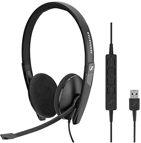 Sennheiser SC 160 USB Binaural Diadema Negro - Auriculares con micrófono (Media/Comunicación, Binaural, Diadema, Negro, Alámbrico, USB Tipo A)