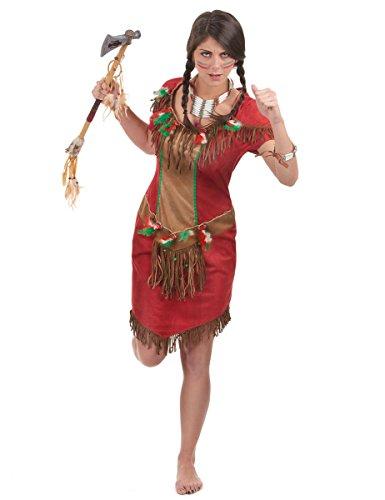 Indianerin Red Hawk Kostüm für Damen Gr. 36 38