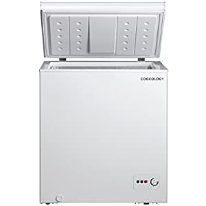 Cookology CCF142WH White Outbuilding Chest Freezer, 142 Litre A+ Rated 73cm wide