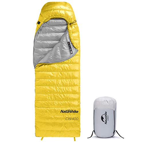 Naturehike Daunenschlafsack, leichte tragbare Winterschlafsäcke für Erwachsene, kompakt wasserdicht für Camping, Rucksackreisen, Wandern, 4 Jahreszeiten, mit Kompressionssack