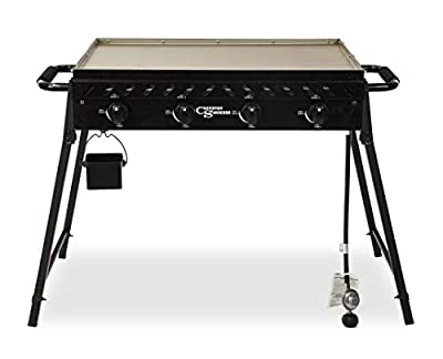 Country Smokers CSGDL0590 The Highland 4-Burner Portable Griddle, Black