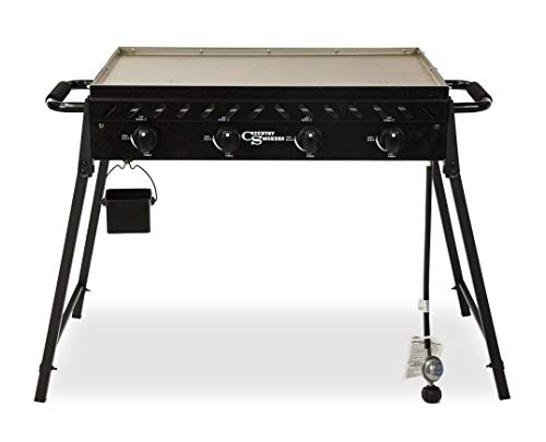 Country Smokers CSGDL0590 The Highland 4-Burner Portable Griddle, Large, Black