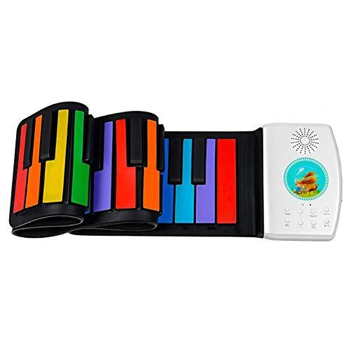ZR&YW Roll Up Piano, 49 Tasten Digital-Keyboard Flexible Geschenk Mit Lautsprecher Elektronische Hand Roll Piano Für Musikfreunde Kinder Kinder