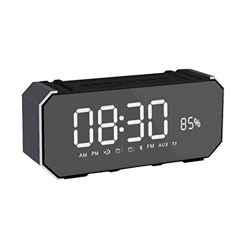 OPAKY DG100 Bluetooth Speaker Card Alarm Clock with Display Outdoor Portable Subwoofer für iPhone, Samsung usw.