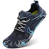 L-RUN Swim Shoes for Men Barefoot Water Sock Navy Women_13.5, Men_11.5 M US