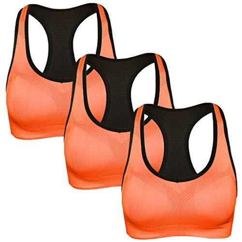 Janly Clearance Sale - Sujetador deportivo para mujer, 3 piezas, espalda cruzada, para entrenamiento alto,...
