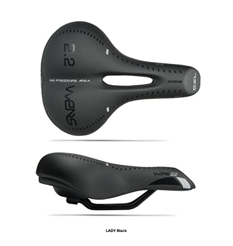 Sella bici trekking, City bike ed MTB LADY WENS 2.2 + GEL (Black)