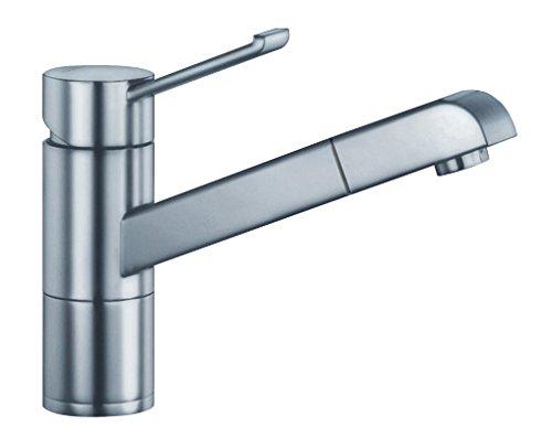 BLANCO 517818 ZENOS-S, Küchenarmatur, metallische Oberfläche, Edelstahl finish, Hochdruck