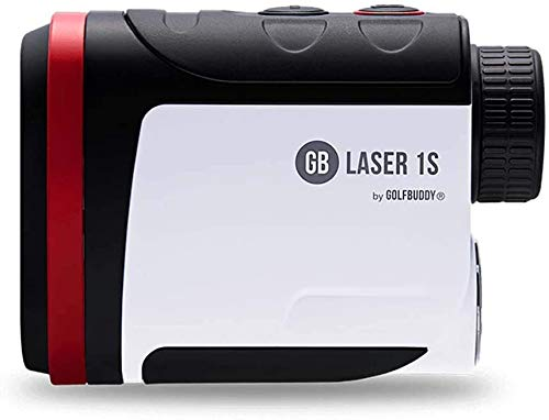 Golf Buddy Laser 1S Rangefinder with Slope, Pin Finder with Vibration, 880 Yard Range Finder, Slope Adjusted Distances, Accurate Measurement, 3 Targeting Mode, 6X Magnification, Wide LCD Display