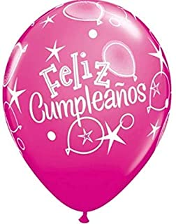 "11"" Feliz Cumpleanos Balloons (6ct)"