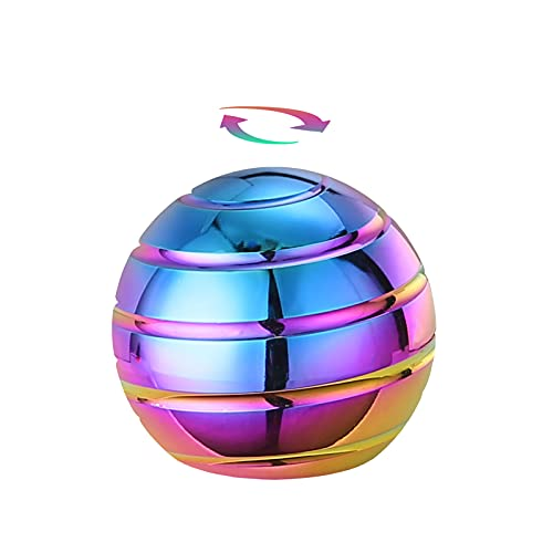 Kinetic Desk Toy Ball, Optical Illusion Desktop Fidget Spinning Toys for Adults Anxiety, Office Cool...