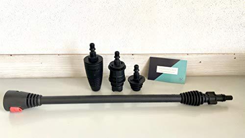 Lavorwash Lavor - pièces de rechange pour nettoyeur haute pression lance plus 3 têtes buse, jet ,eau, turbo réglable et fixateur savon