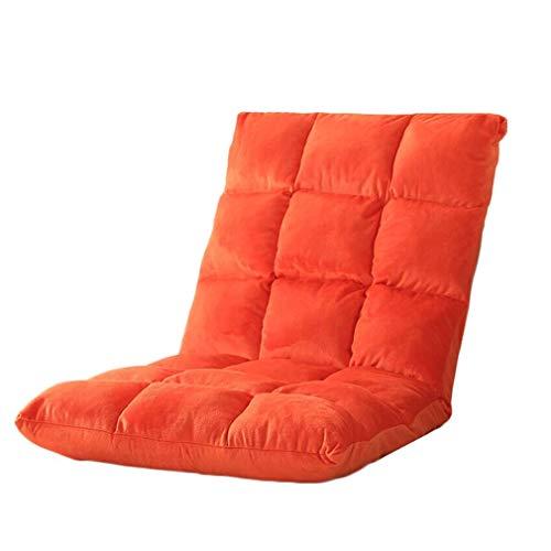 Cojines para Palets Sofá Perezoso Plegable Sillón Perezoso De Ocio Individual Ajustable Salón De La Sala De Estar 4 Colores: Extraíble Y Lavable (Color : Orange)