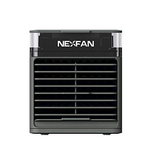 Enfriador de aire portátil,pedkit Enfriador de aire Aire acondicionado USB de 3 velocidades 7 LED Refrigeración ligera/Humidificación de aire/Purificación de aire/Aromaterapia Ventilador